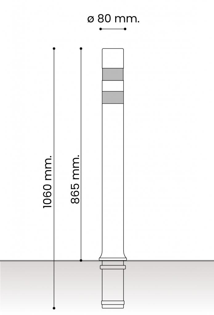 db medidas pilonas fijas plastico_aflex dt fija 80