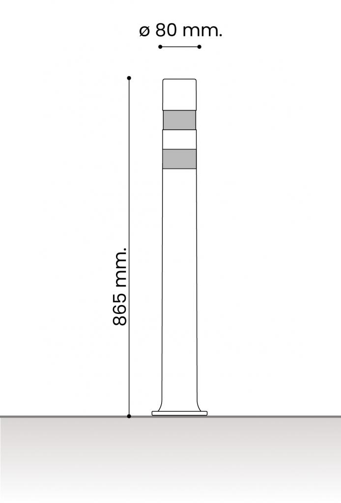 db medidas pilonas fijas plastico_aflex dt placa 80
