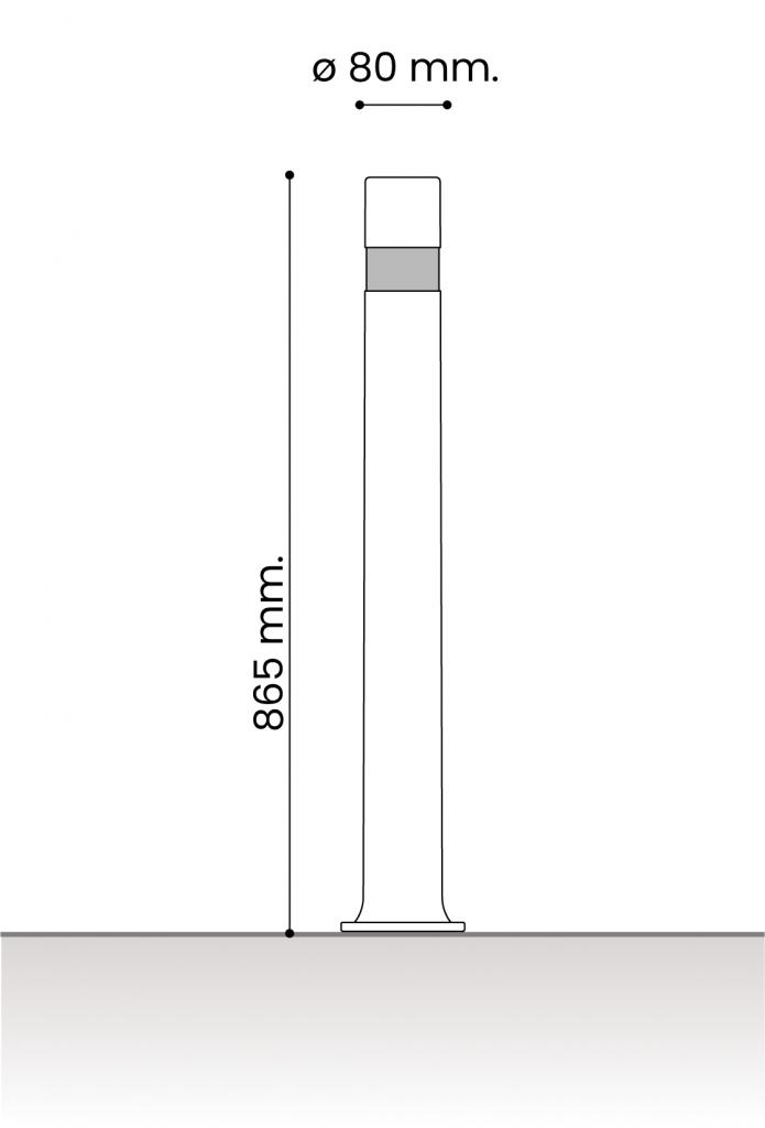 db medidas pilonas fijas plastico_aflex placa 80