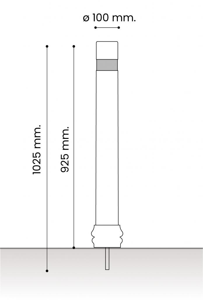 db medidas pilonas fijas plastico_atornillar 100