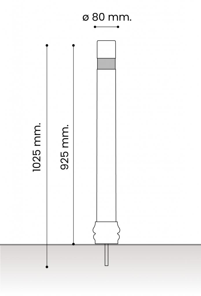 db medidas pilonas fijas plastico_atornillar 80