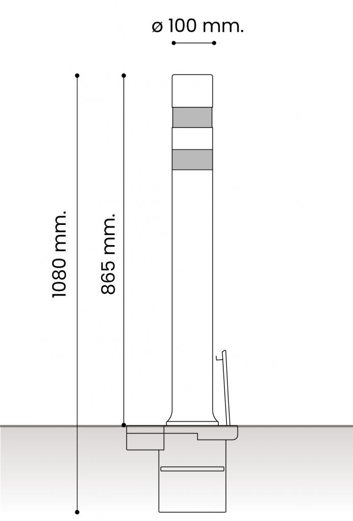 db medidas pilonas fijas plastico_extraible dt 100